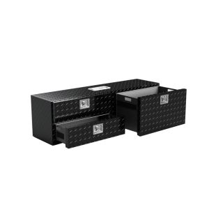 Tooley 55 in x 18 in x 18 in Black Aluminum Full Size Truck Tool Box