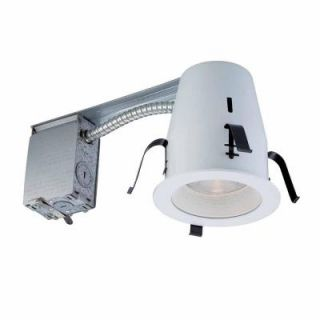 Commercial Electric 4 in. White Non IC Remodel Recessed Lighting Kit HBR2000R/201WH