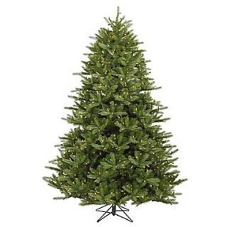 Vickerman 7.5 x 63 Majestic Frasier Fir Tree With 2545 PVC Tips & 1150 Dura Lit Clear Light, Green