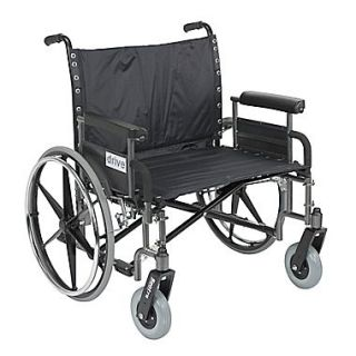 Drive Medical Sentra Extra Wide Heavy Duty Wheelchair, Detachable Full Arms, 28 Seat