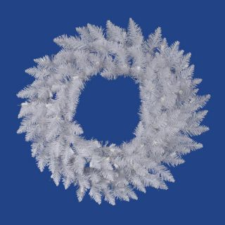 Vickerman 36 in Indoor/Outdoor White Spruce Artificial Christmas Wreath