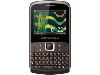 Motorola EX112 50 MB Titanium Unlocked GSM QWERTY Cell Phone 2.3""