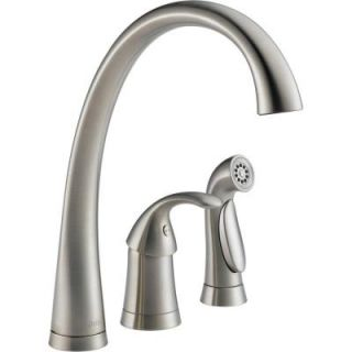 Delta Pilar Waterfall Single Handle Side Sprayer Kitchen Faucet in Stainless DISCONTINUED 4380 SS DST