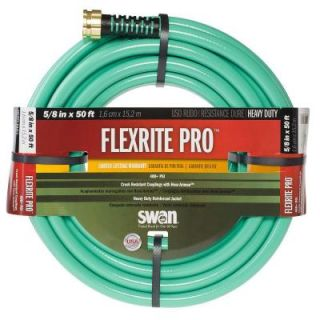 Swan FlexRITE Pro 5/8 in. Dia x 50 ft. Heavy Duty Water Hose CSNFXP58050