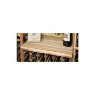 Designer Table Top Below Glass Rack (Rustic Pine   Unstained)