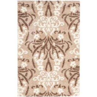 Safavieh Florida Shag Beige/Cream 3 ft. 3 in. x 5 ft. 3 in. Area Rug SG457 1311 3