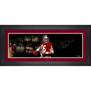 Joe Montana San Francisco 49ers  Authentic Framed Autographed 10 x 30 Filmstrip Photograph with Multiple Inscriptions #2 15 of Limited Edition of 16