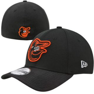 New Era Baltimore Orioles Logo Line Classic Flex Hat   Black