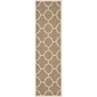 Safavieh Indoor/ Outdoor Courtyard Brown Rug (23 x 10)   15536141