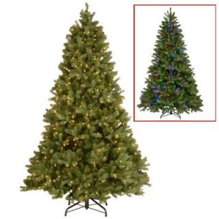 National Tree Company 7.5 ft. Downswept Douglas Fir Artificial Christmas Tree with Dual Color LED Lights PEDD1 312LD 75X
