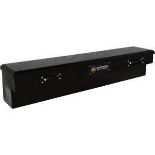 Locking Aluminum Side-Mount Truck Box — 70in. x 11 1/2in. x 11in., Matte Black  Side Mount Boxes