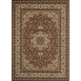Medallion Traditional Brown Rug (53 x 74)   15924800