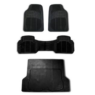 FH Group 4pc Full Set All Weather Heavy Duty Auto Floor Mat Trunk