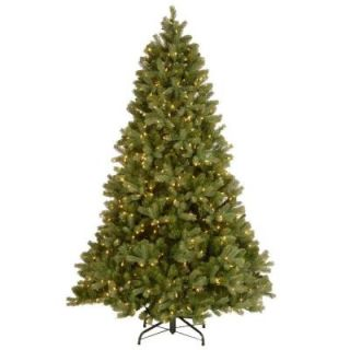 National Tree Company 7 ft. Downswept Douglas Fir Artificial Christmas Tree with Clear Lights PEDD3 312 70