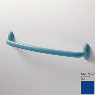 Ponte Giulio USA Urbinati Glossy Blue Single Towel Bar (Common 12 in; Actual 13.375 in)
