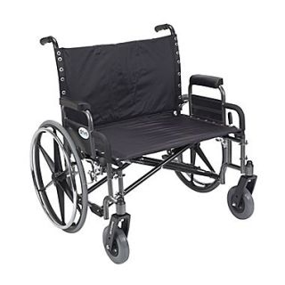 Drive Medical Sentra Extra Wide Heavy Duty Wheelchair, Detachable Desk Arms, 30 Seat
