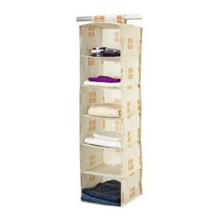 Seda France Polypropylene 6 Shelf Organizer in Cameo Key Cream SF 85022