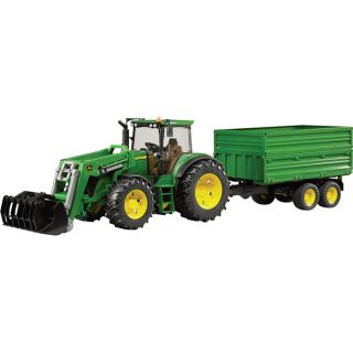 Bruder John Deere 7930 with Front Loader and Tandem Axle Tipping Trailer - 116 Scale, Model# 09810  John Deere Collectibles