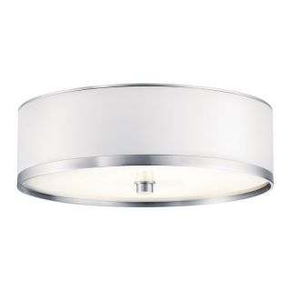 Kichler Lighting Pira Brushed Aluminum Flush Mount Fluorescent Light (Common 1 ft; Actual 12 in)