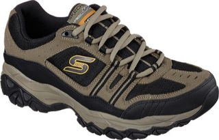 Mens Skechers After Burn Memory Fit Strike Off Sneaker   Pebble/Black