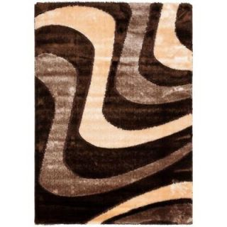 Safavieh Miami Shag Brown/Beige 6 ft. x 9 ft. Area Rug SG361 2513 6