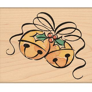 Penny Black Mounted Rubber Stamp 2.25X2.75 Jingle Bell Corner