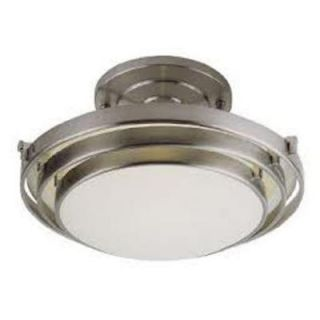 Bel Air Lighting Stewart 2 Light Brushed Nickel CFL Ceiling Semi Flush Mount Light PL 2480 BN