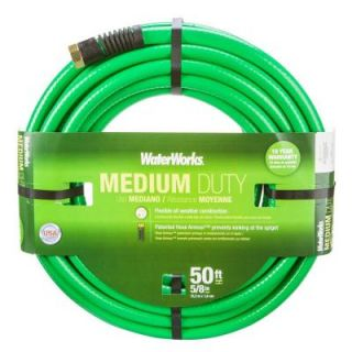 WaterWorks 5/8 in. Dia x 50 ft. Medium Duty Water Hose WWT4058050