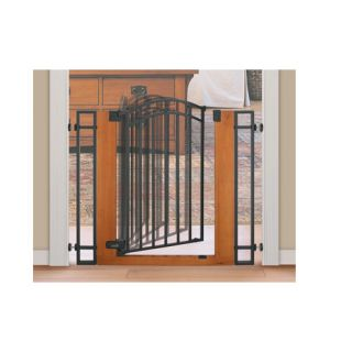 Summer Infant Stylish and Secure Wood and Metal Walk Thru Gate