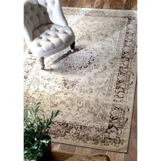 nuLOOM Oriental Vintage Viscose Traditional Brown Rug (52 x 8) (As