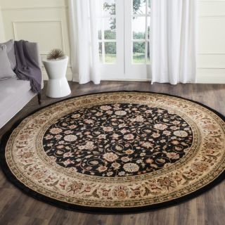 Safavieh Lyndhurst Collection Traditional Black/Ivory Oriental Rug (3