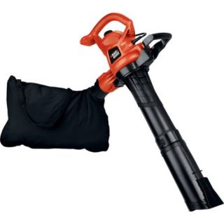 Black and Decker 12 Amp Electric High Performance Blower Vacuum, Orange