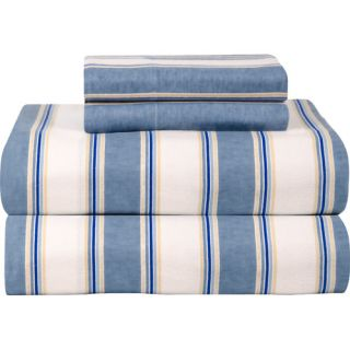Celeste Home Celeste Home Ultra Soft Flannel Sheet Set in Blue & White