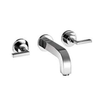 Hansgrohe Citterio Wall Mount 2 Handle Low Arc Bathroom Faucet Trim Kit in Chrome (Valve Not Included) 39147001