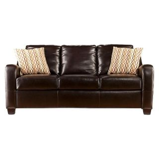 Southern Enterprises Montfort Stationary Sofa   Chocolate
