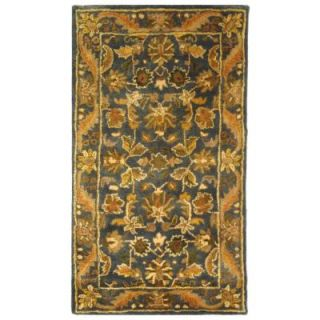 Safavieh Antiquity Blue/Gold 2 ft. 3 in. x 4 ft. Area Rug AT52C 24