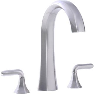 Cifial 201.650.620 Hexa Double Lever Handle Roman Tub Faucet in Satin Nickel