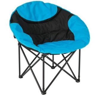 Best Choice Products Folding Lightweight Moon Camping Chair Outdoor Sport Blue