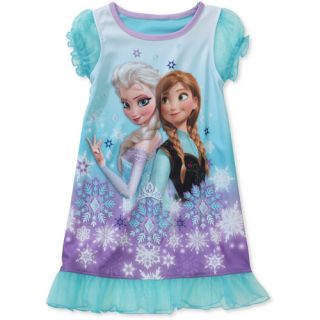 Disney Frozen Toddler Girl Anna and Elsa Nightgown