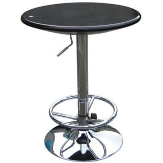 Boraam Luna Adjustable Pub Table, Black