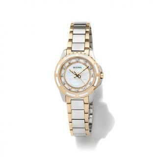 Bulova Ladies' Diamond Gallery Collection White Mother of Pearl 0.44ctw Diamond   7406100