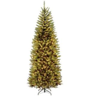 National Tree Company 7.5 ft. PowerConnect Kingswood Fir Slim Artificial Christmas Tree with Dual Color LED Lights KW7 D52 75