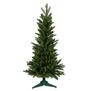 Vickerman 3 ft Pre Lit Frasier Fir Slim Artificial Christmas Tree with White Clear Incandescent Lights