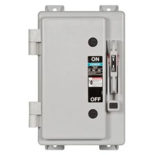 Siemens Heavy Duty 60 Amp 600 Volt 3 Pole Type 4X Non Metallic Fusible Safety Switch with Neutral HF362NX