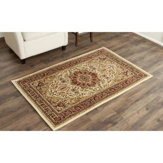 Safavieh Lyndhurst Collection Ivory/Red Polyester Rug (33 x 53