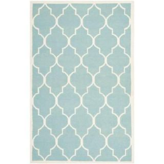 Safavieh Dhurries Light Blue/Ivory 8 ft. x 10 ft. Area Rug DHU632C 8