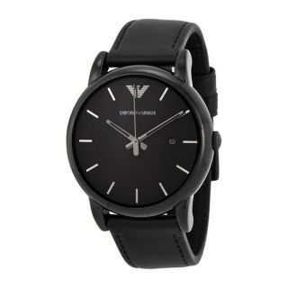 Emporio Armani Mens AR1732 Classic Black Leather Watch   17570902