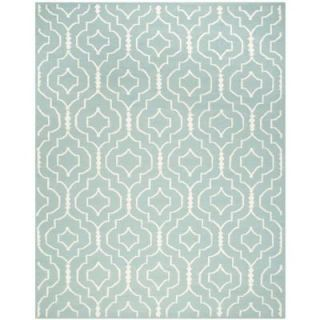 Safavieh Dhurries Light Blue/Ivory 8 ft. x 10 ft. Area Rug DHU637C 8