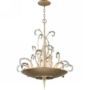Corbett Lighting COR 156 48 Crescendo Tranquility Silver Leaf  Pendants Lighting