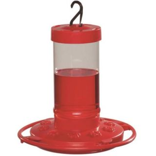 First Nature FN3051 Red Durable Glass Hummingbird Feeder, 16 oz, 7 Inch Length x 7 Inch Width x 7 1/4 Inch Height